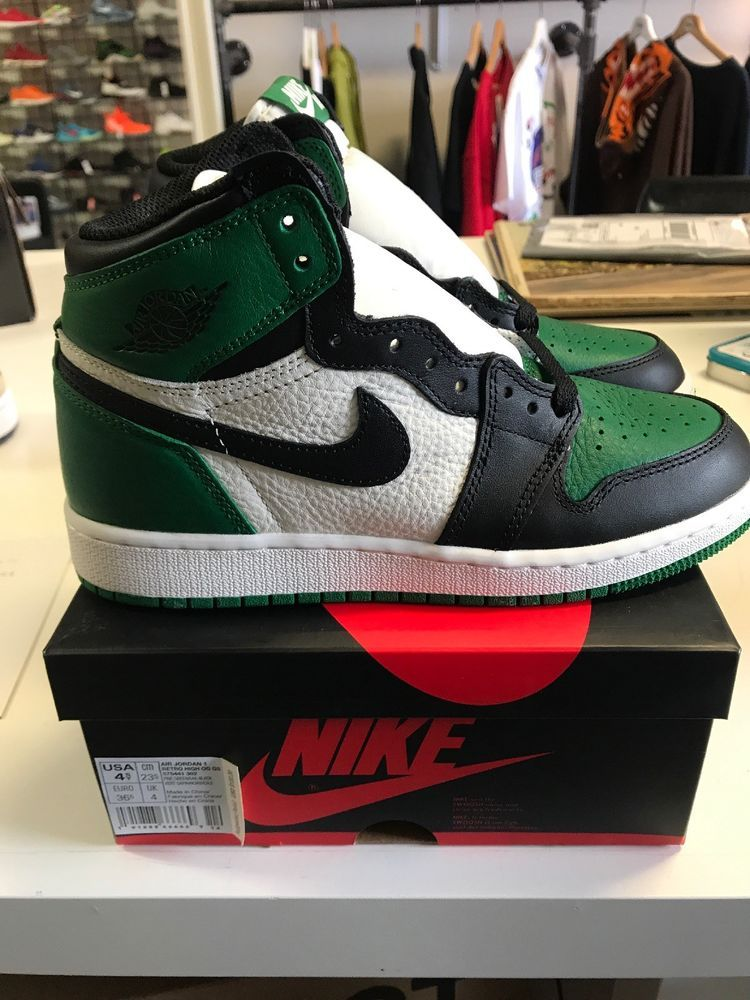 0792506a21b9 eBay  Sponsored Air Jordan 1 Retro High OG GS Pine Green Size 4.5 575441 302
