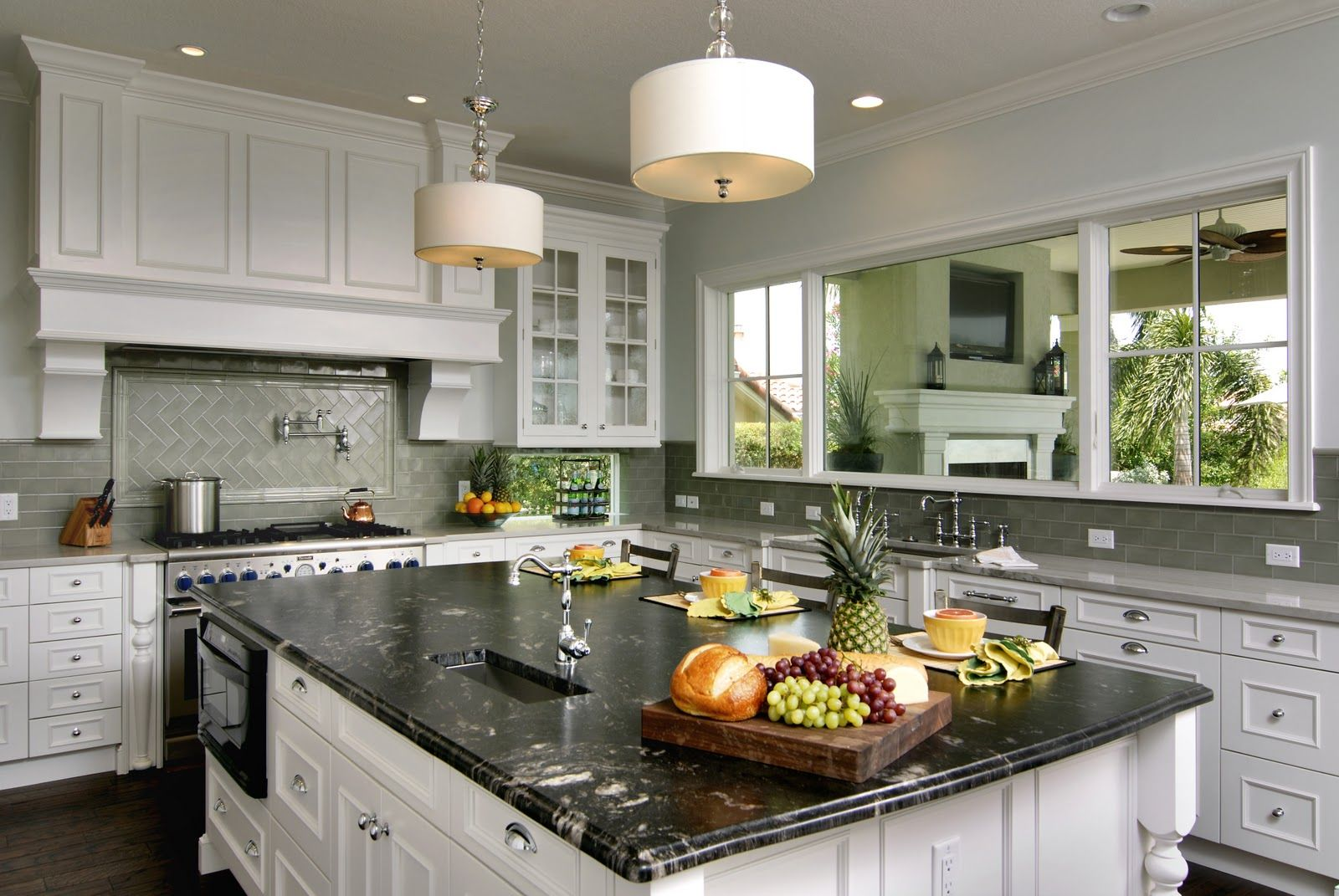 Black Titanium Granite Countertops Brushed Titanium Granite With Nordic White Cabinets