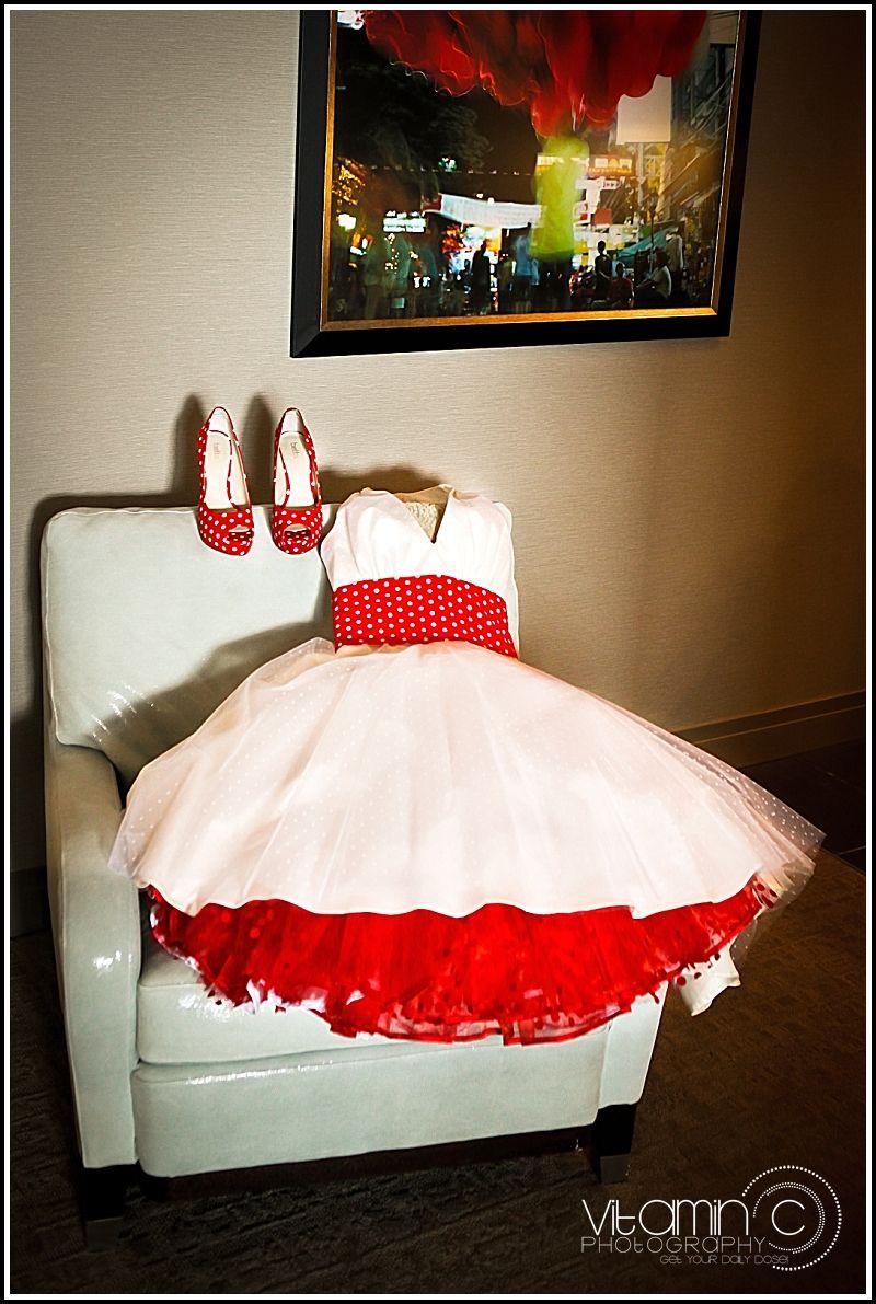 vegas wedding dresses A Rockabilly Las Vegas Wedding John Marnie Rock n Roll Bride