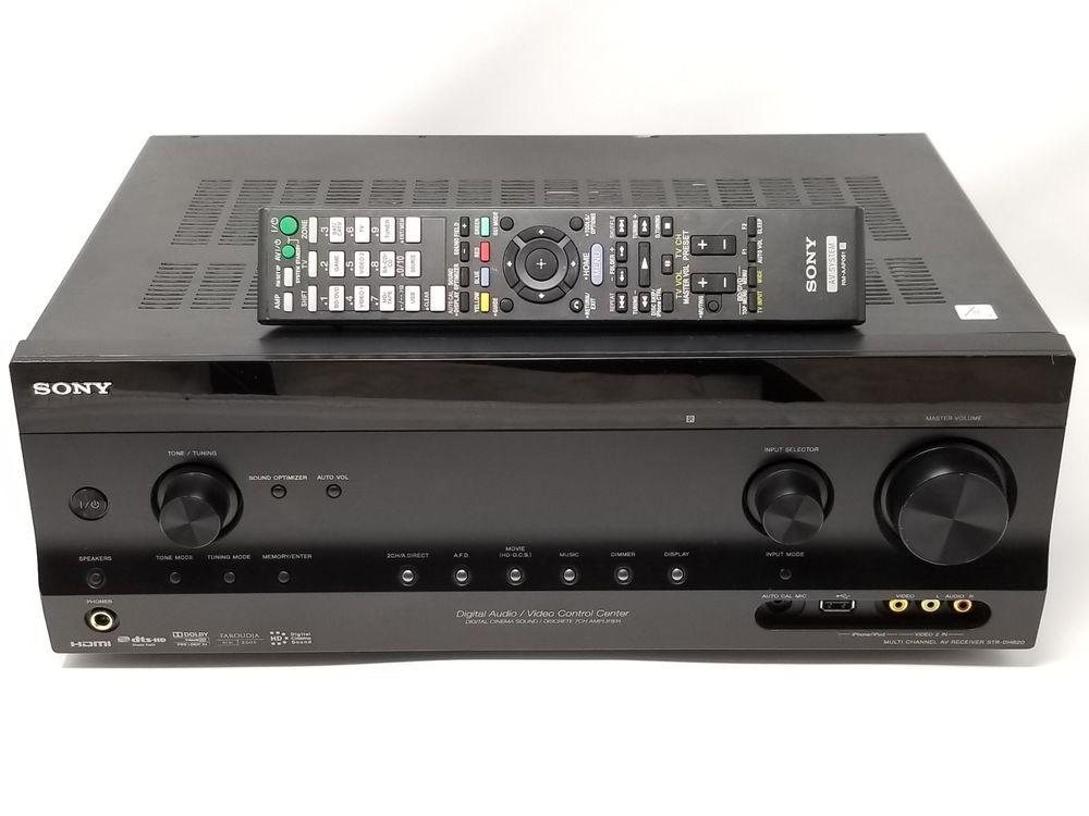 sony str dh820 7 1 channel 110 watt av audio video receiver remote rh pinterest com Sony Operating Manuals ICD-UX523 Sony Operating Manuals ICD-UX523