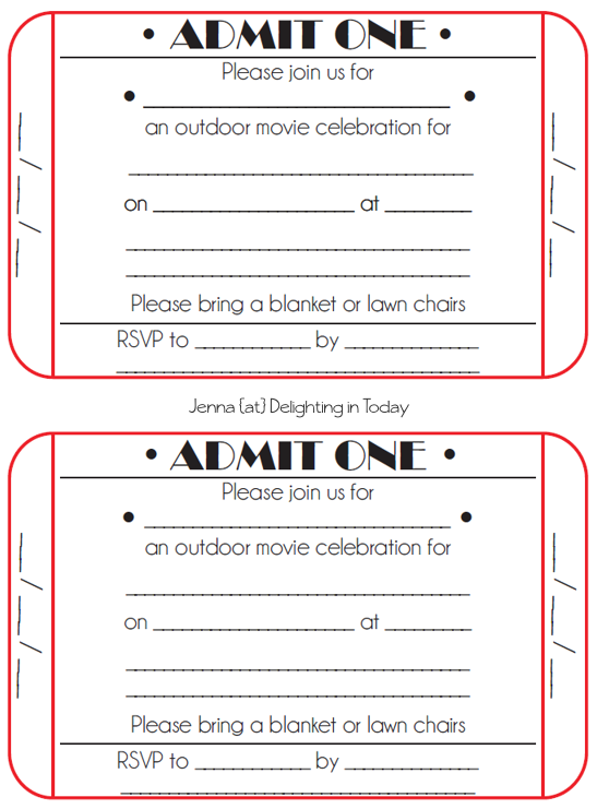 movie birthday invitations template iVrDyEM8 | Party | Pinterest ...