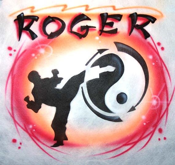 Airbrushed Taekwondo Martial Art T-Shirt in  all sizes