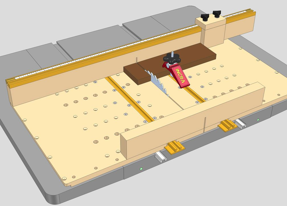 Favorite table saw sled and jig designs table saws for Table saw table plans