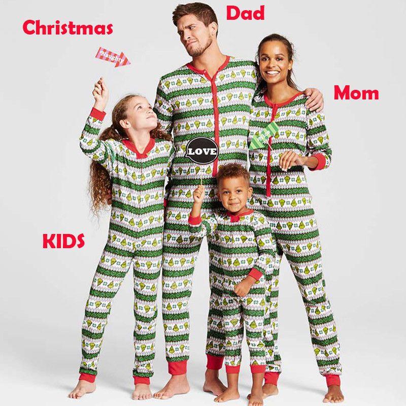 0e2b1426f3  Christmas Family Matching Pajamas Set Women Men Kid Adult Sleepwear  Nightwear CA