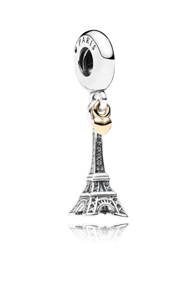 ec4e00606 wholesale 925 sterling silver pendant charm beads pendant female charm the Eiffel  Tower in fits Pandora. New Pandora Eiffel Tower charm with gold heart