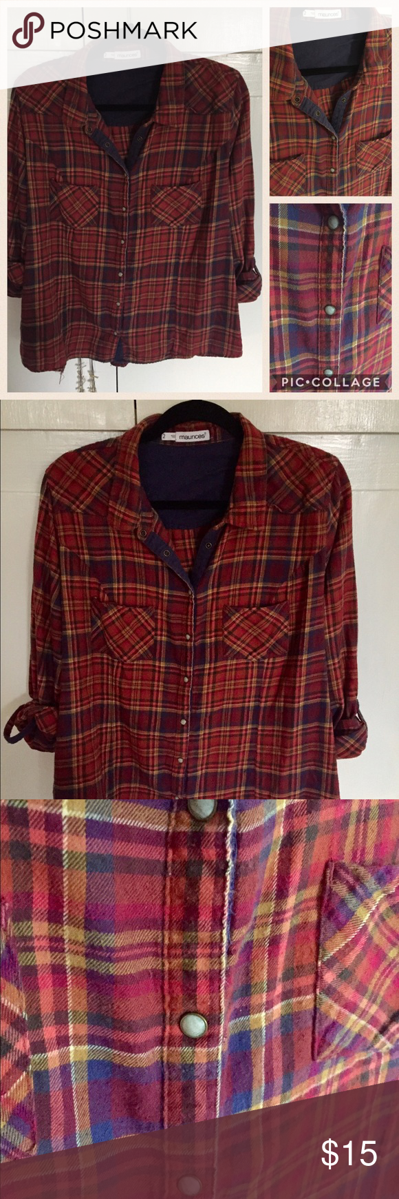 Flannel shirts yellow  Maurices Flannel Shirt x  Flannel shirts Flannels and Conditioning