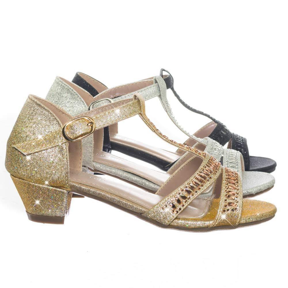 eb6b3822f9ad Ekans3K Children Girl Kid Low Heel Rhinestone Crystal Glitter Party Dress  Sandal  low heel  block  heel  chunky  open toe  children  girl  kids  shoes  ...