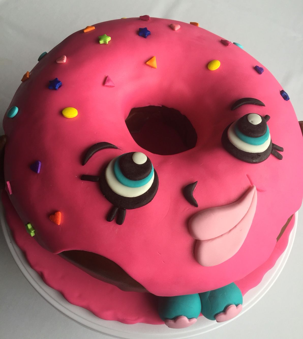 Shopkins Donut Shape Cake Doughnuts 4th Birthday Birthdays