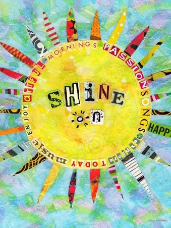 """Shine On"" - Canvas Wall Art from Oopsy daisy, Fine Art for Kids"