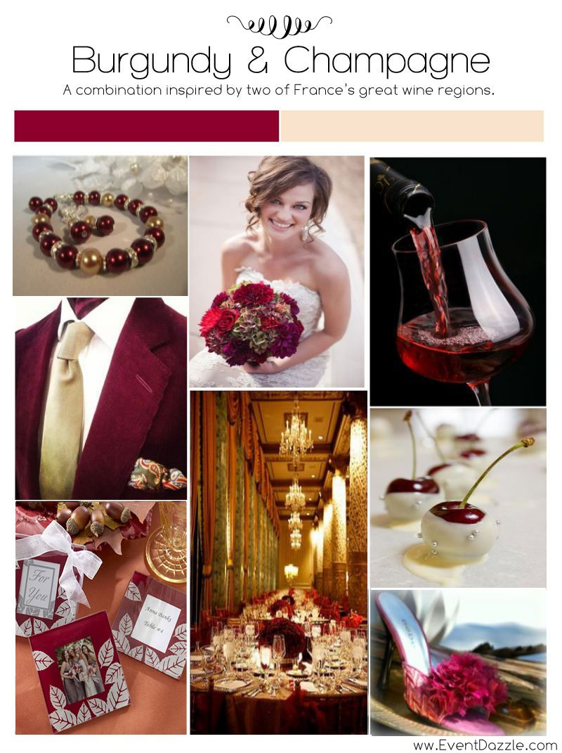 Burgundy & Champagne Wedding Inspiration – EventDazzle | happy ever ...