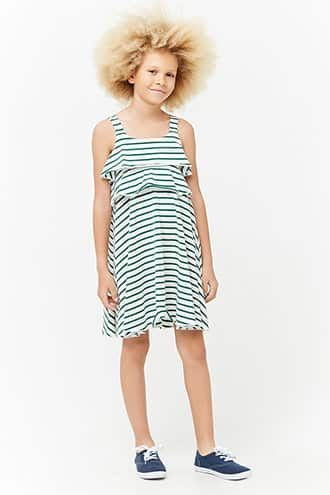 8b14a38ff1d5b Girls Striped Flounce Dress (Kids) | Products | Dresses, Girls ...
