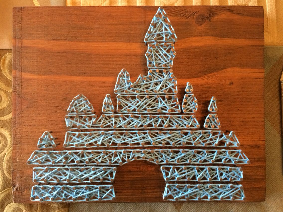 Original Disney castle string art … | Pinteres…
