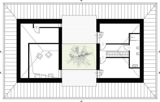 Casa patio,Planta primer nivel