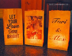 Brilliant Personalized Paper Bag Luminaries
