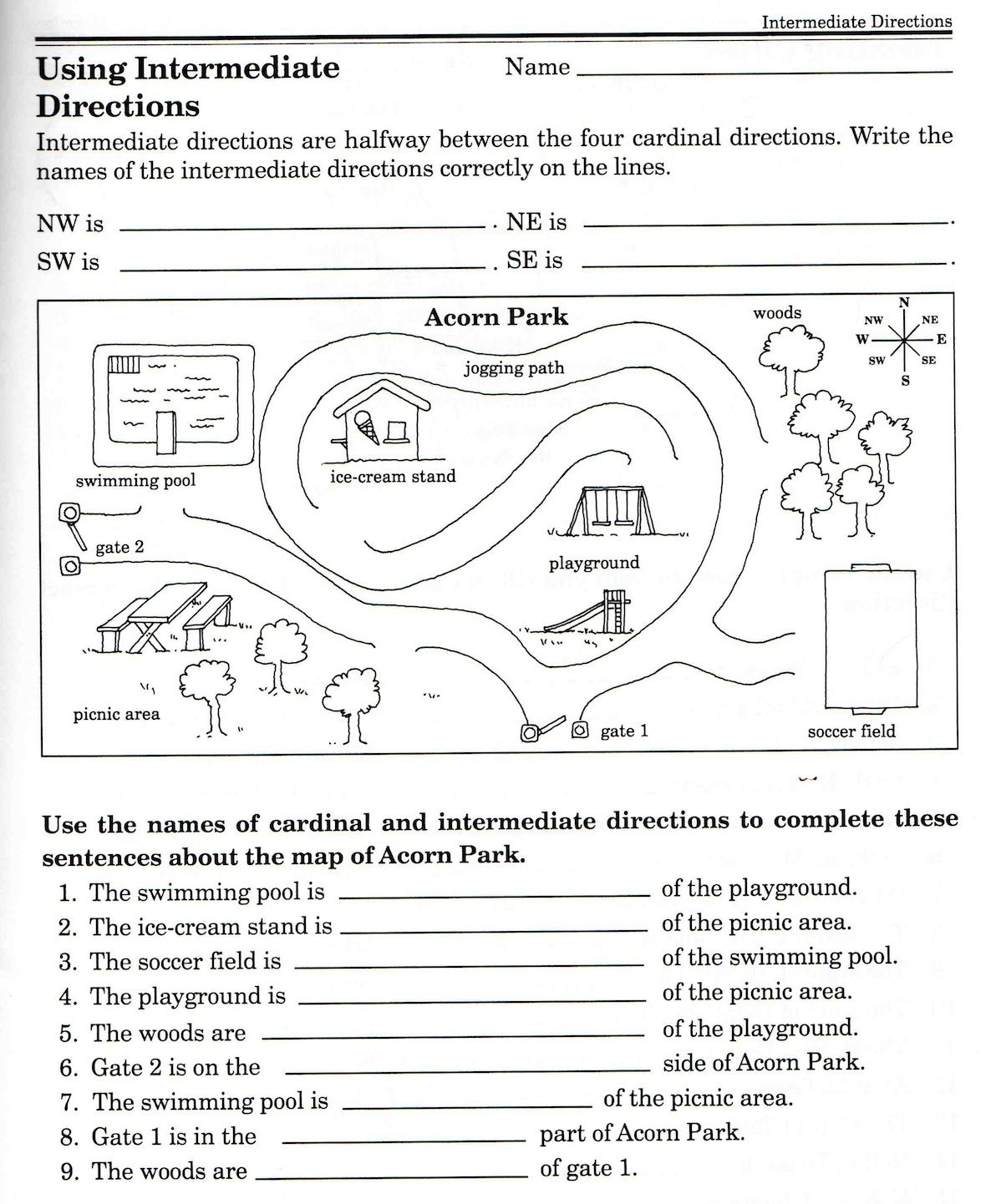 Worksheets Direction Worksheets social studies skills worksheets free printable and key