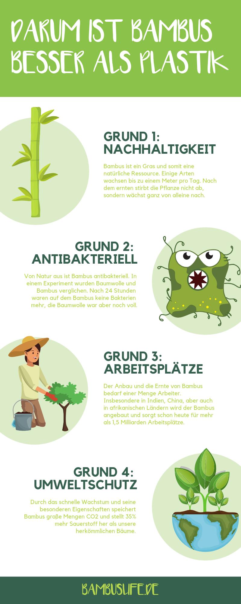 Infografik Bambus Vs Plastik Welches Material Uberzeugt Im