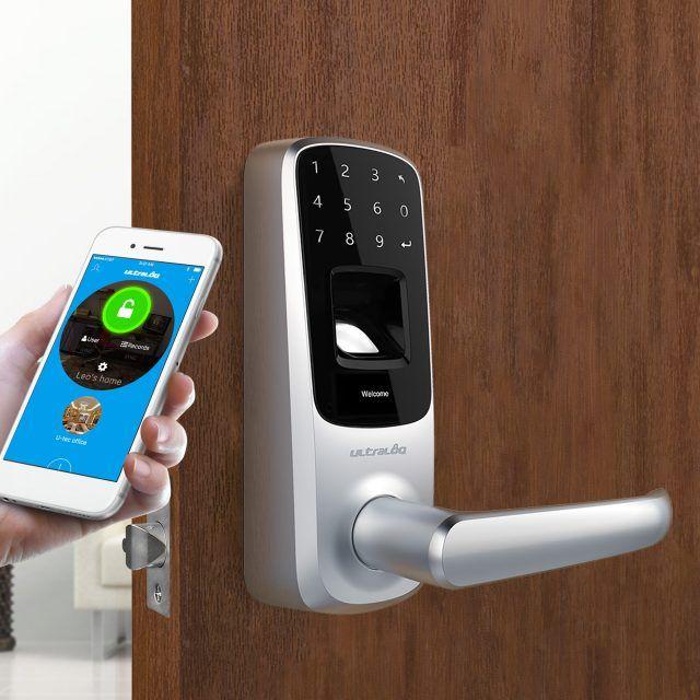 Bluetooth Enabled Fingerprint And Touchscreen Smart Lock Smart Door Locks Smart Lock Keyless Locks