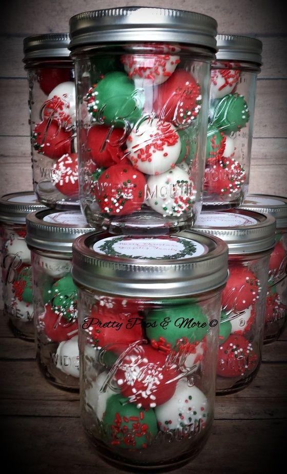 Pretty Pops Mason Jar Cakes Christmas Cake Pops Christmas Cake