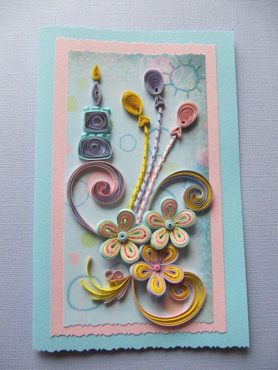 Birthday Greeting Card Handmade Quilling Card