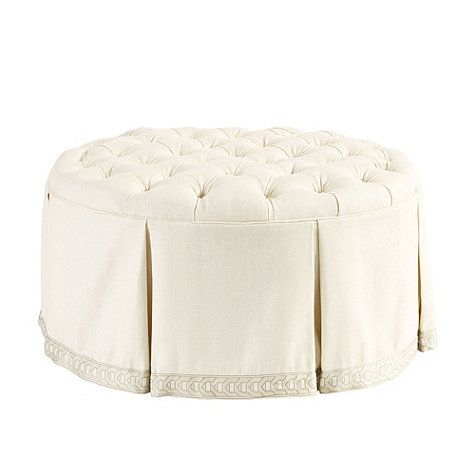 Pleasant For Just Outside Our Closet Hayes Round Tufted Ottoman Creativecarmelina Interior Chair Design Creativecarmelinacom