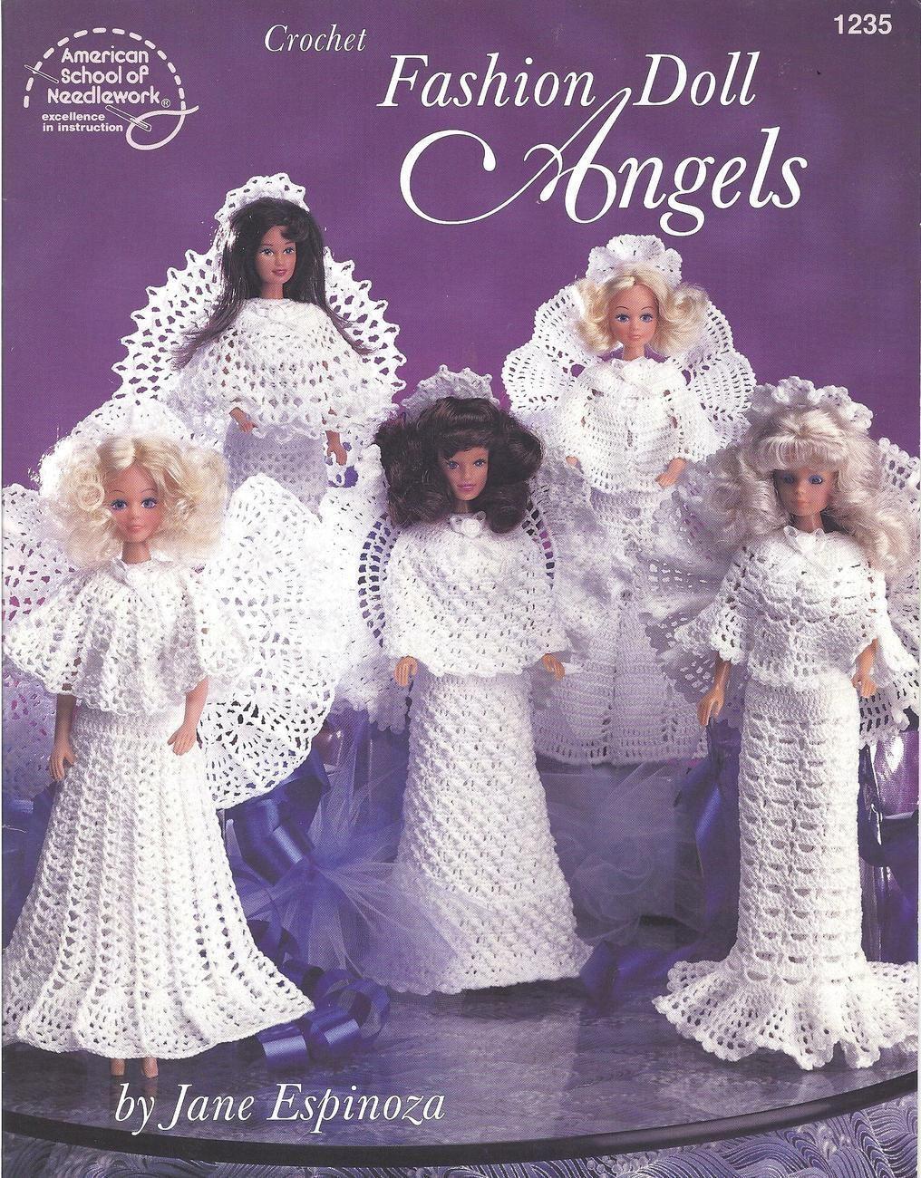Crochet Pattern Book Crochet Fashion Doll Angels by American School ...