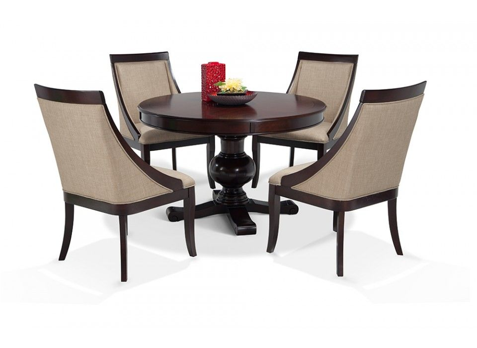 gatsby round 5 piece dining set with swoop chairs | dining room