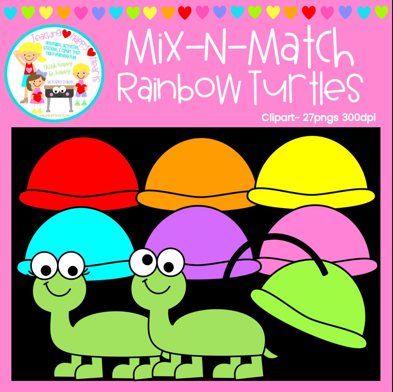 Turtles Clipart Clip Art Rainbow Boys Turtle Images [ 1312 x 1316 Pixel ]
