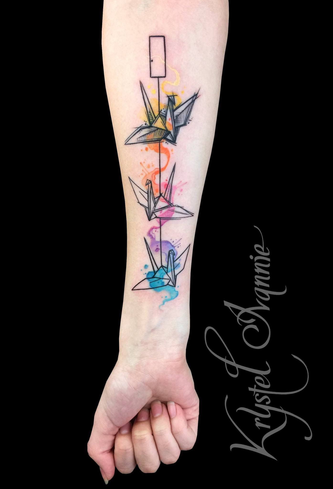 837a96d90 Origami crane tattoo | Tattoos | Origami tattoo, Crane tattoo, Paper ...