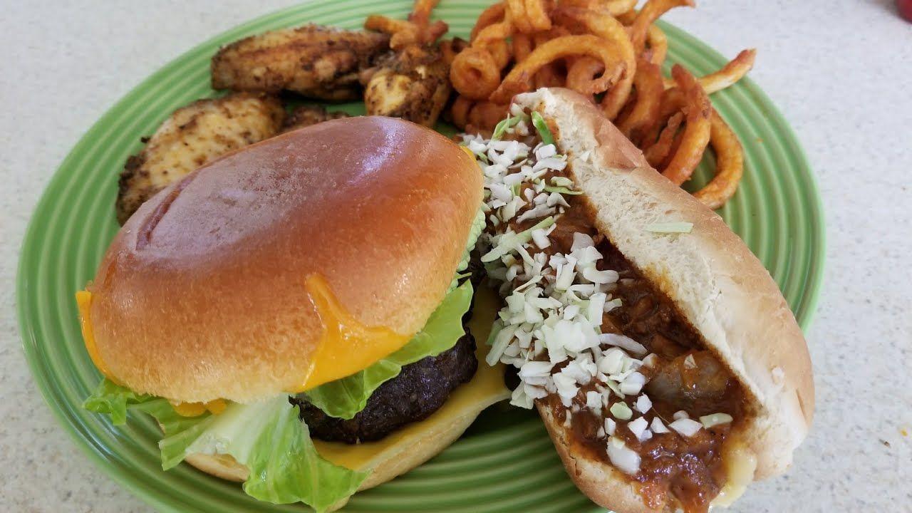 Air Fryer GameDay Food Burgers,Hot dogs,Wings & Fries