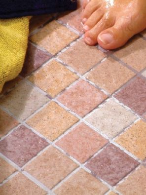 Planets range Vitrified glazed ceramic 47x47mm anti-slip mosaic tiles, suitable for use in wet areas where a good anti-slip surface is required.   https://www.facebook.com/pages/Waxman-Ceramics/633689600028212