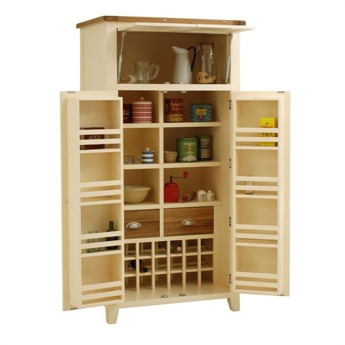 Larder Pantry Cupboard: Cheltenham Cream Painted Larder (V862) With Free Delivery