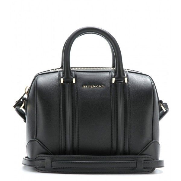 Givenchy Lucrezia Mini Leather Bowling Bag ( 1,560) ❤ liked on Polyvore  featuring bags, handbags, black, black bowling bag, genuine leather purse,  givenchy ... 94161e47b4
