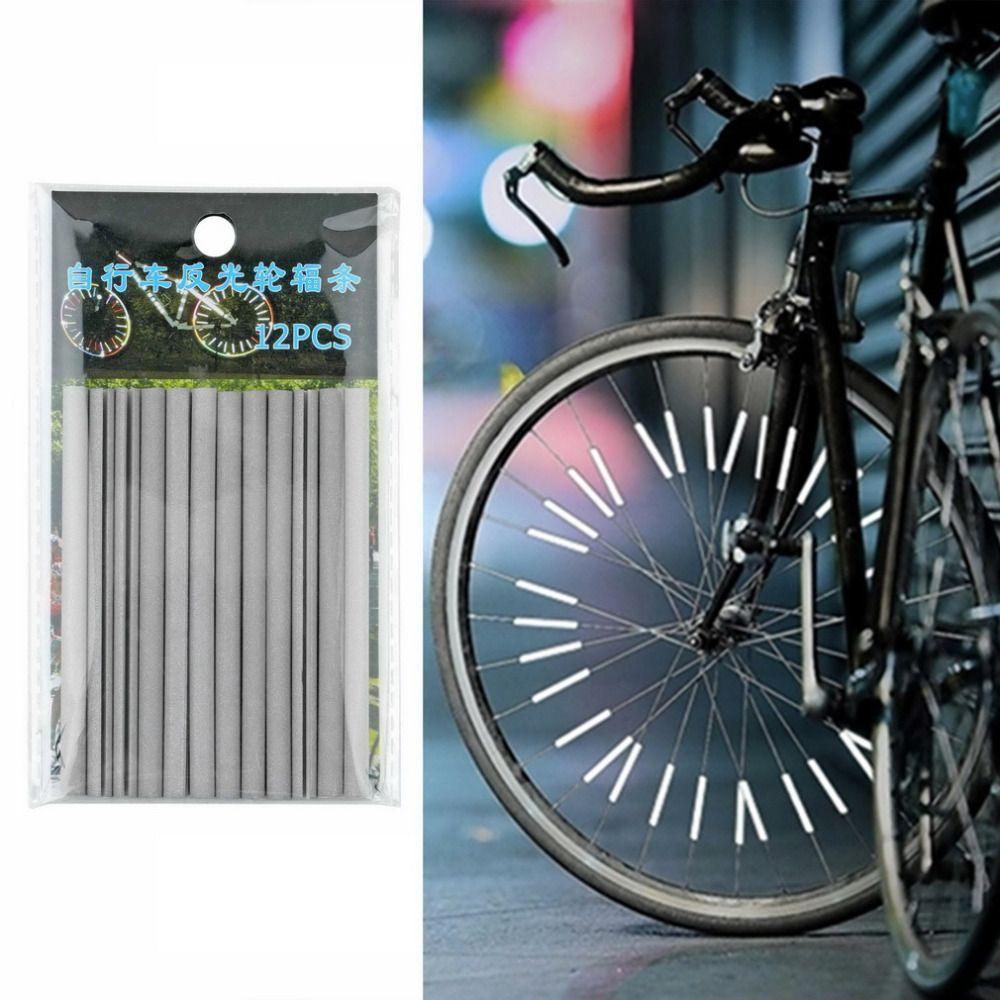 12x Bike Bicycle Wheel Spoke Reflector Reflective Mount Clip Tube Warning Strip