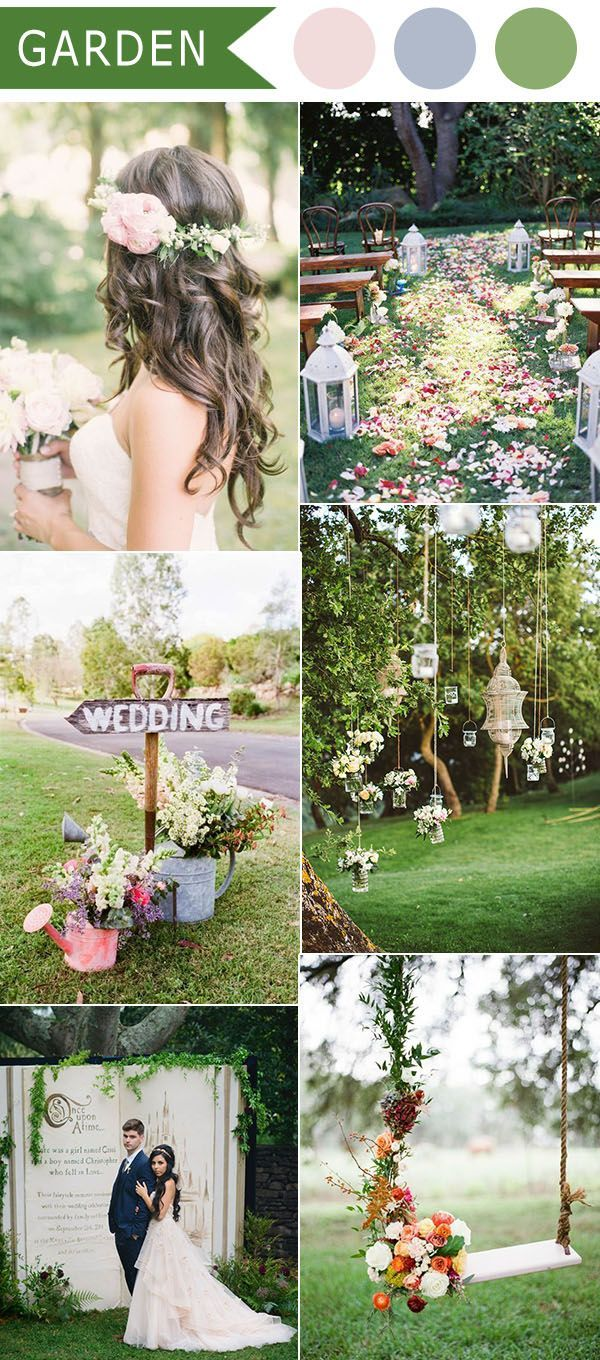 garden themed wedding ideas for 2016 trends #GardenWeddingIdeas ...