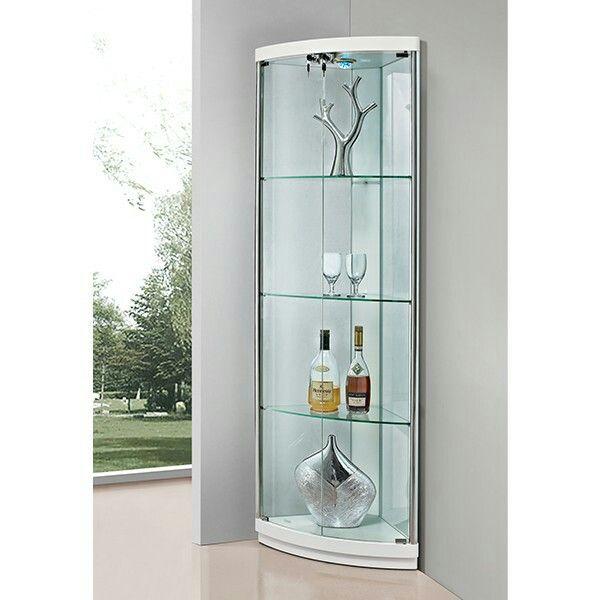 Corner Glass Display Cabinet Glass Cabinets Display Corner Storage Living Room Corner