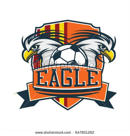 Soccer Football Sport Logo With Two Eagle Illustration Vector Sports Logo Vector Vector Free