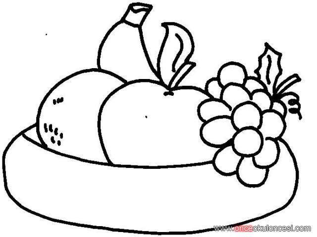 Meyve Tabağı Boyama Sayfaları Yerli Mali Pinterest Preschool