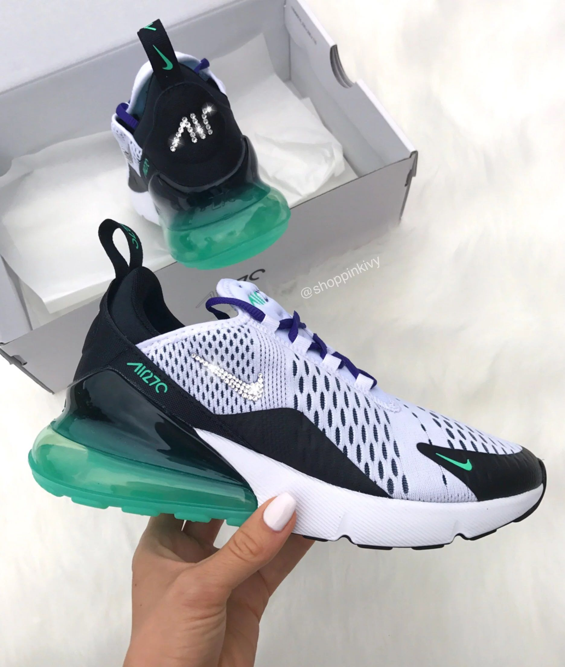 3506acde3971 Nike Air Max 270 Crystal Custom Sneaker