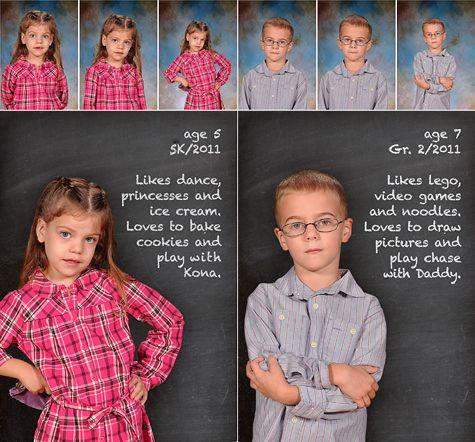 """""""school pictures"""" for my little homeschooler"""