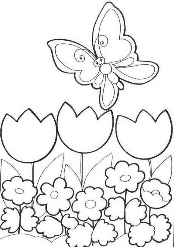 "Ausmalbild Kostenlos iColor ""Little Kids Springtime"