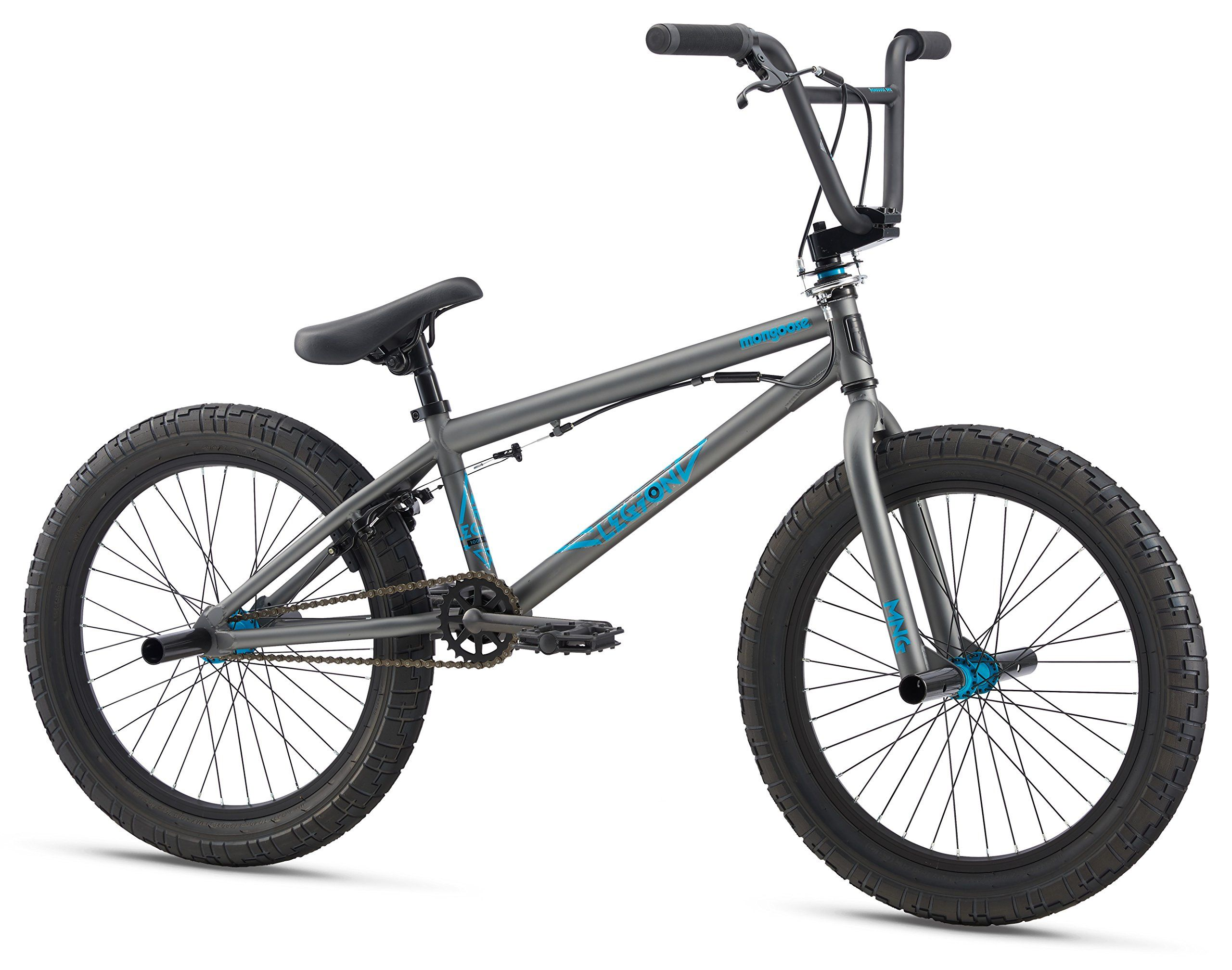 Mongoose Legion L20 20 Wheel Freestyle Bike Grey One Size Mongoose Hi Ten Bmx Steel Frame And Fork Is Ideal For Young Riders Ne Bmx Freestyle Bmx Bikes Bmx