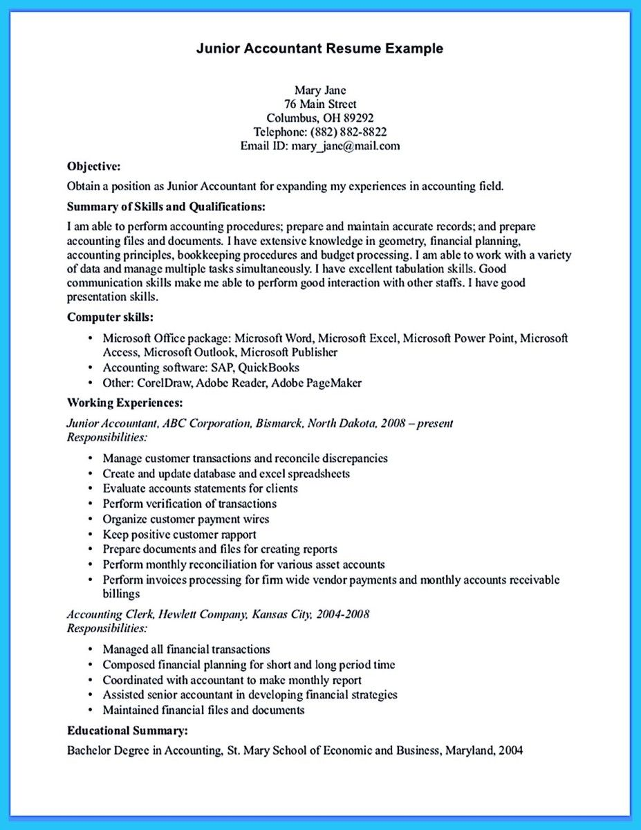 Resume For Accountant Awesome Sample For Writing An Accounting Resume  Resume Template .
