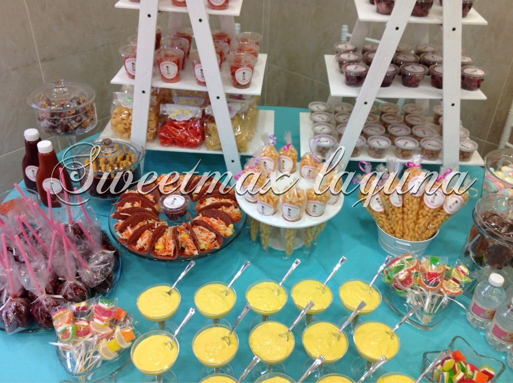 Mesa de snack baby shower Fabiola  Mesas de snacks