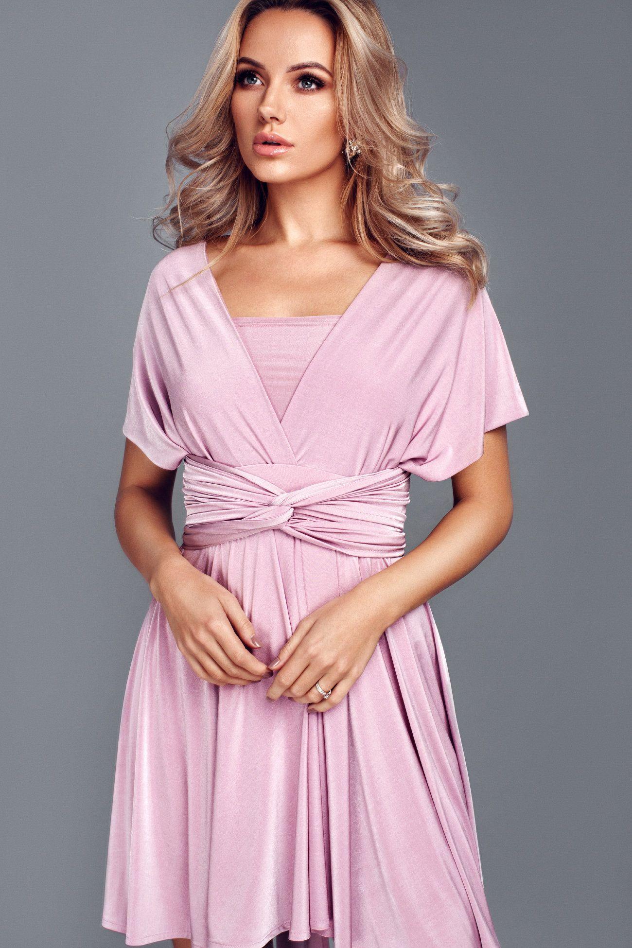 Blush pink Velvet Bridesmaid Dress Nude pink infinity