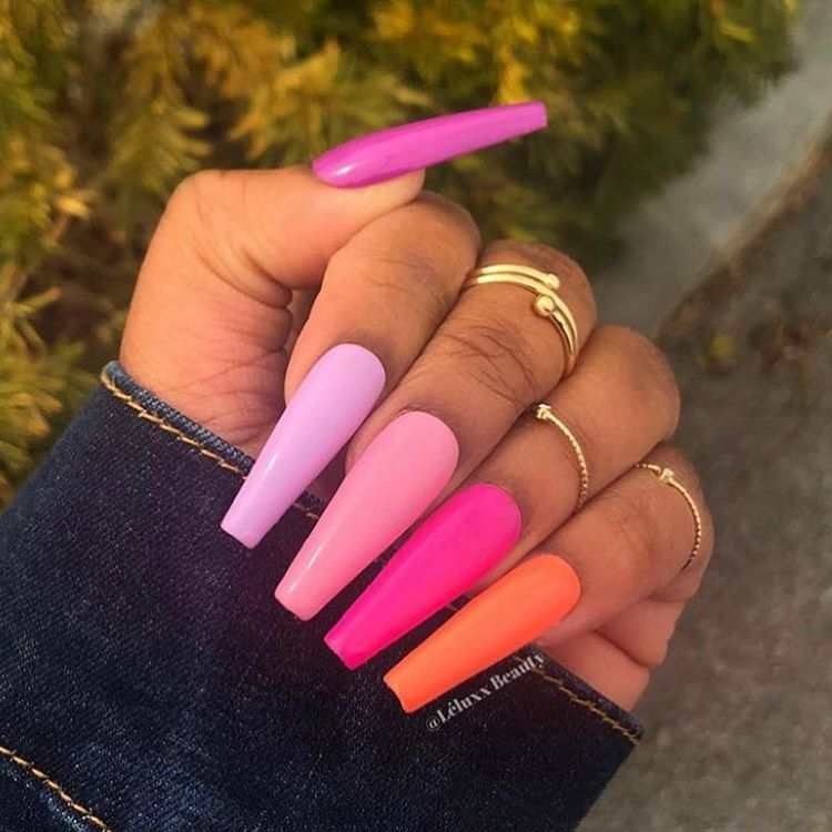 The Baddest Nails On Instagram Which Shades Of Pink Are You Clearnails Glitter Cute Acrylic Nails Long Acrylic Nails Fake Nails