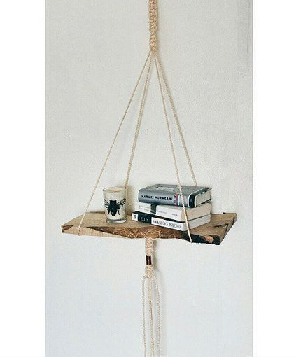 Macramé Hanging Shelf by PaperdollsParade on Etsy ...