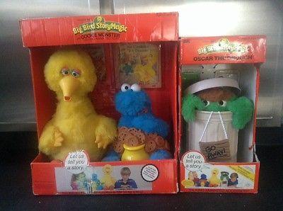 1986 Ideal Talking Big Bird Story Magic Oscar Cookie