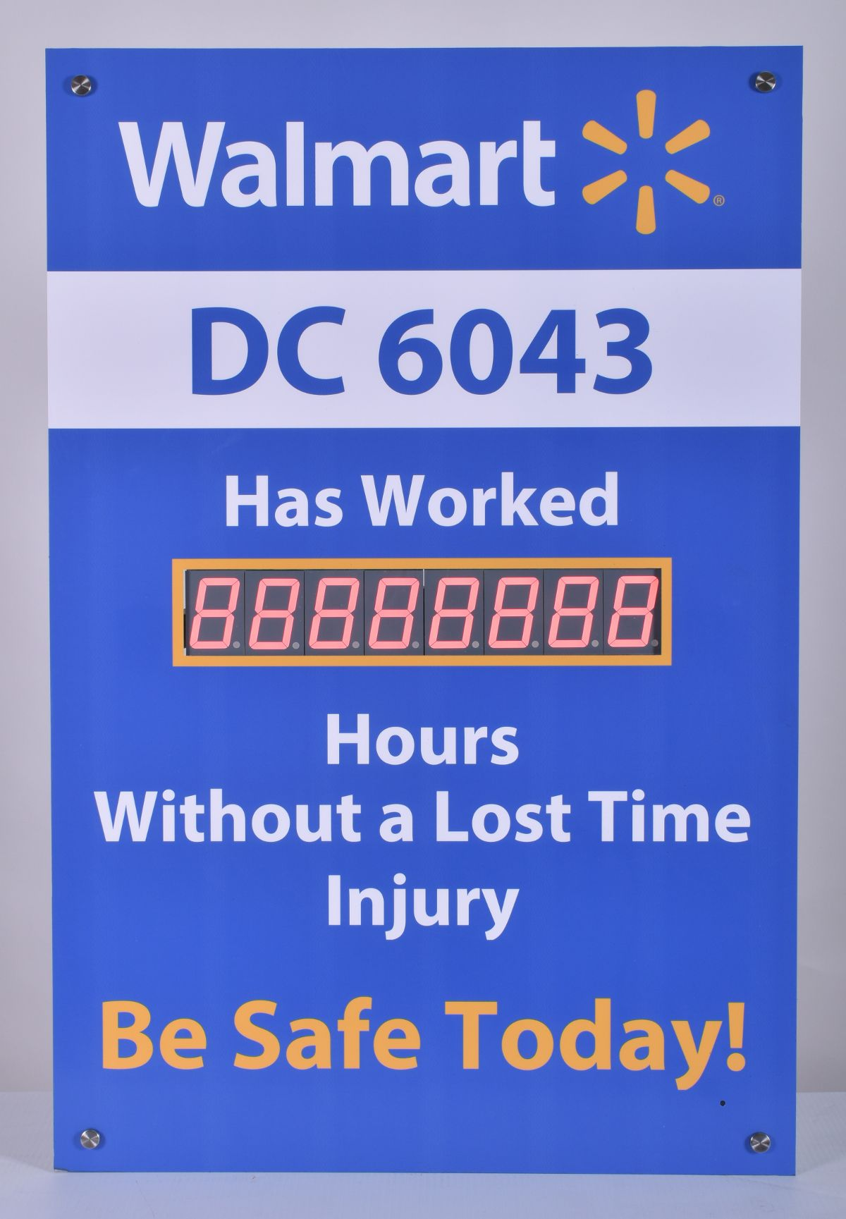 Hour Tracking Safety Record Signs (36Hx24W) Count days