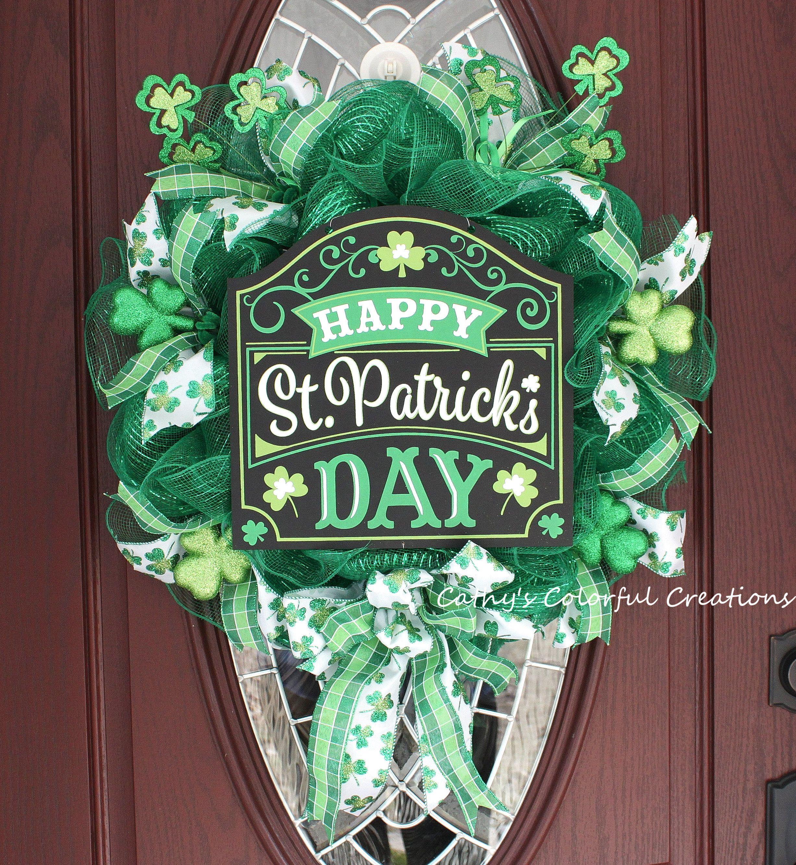 St Patrick s Day Wreath Happy St Patricks Day Wreath St Paddys Day