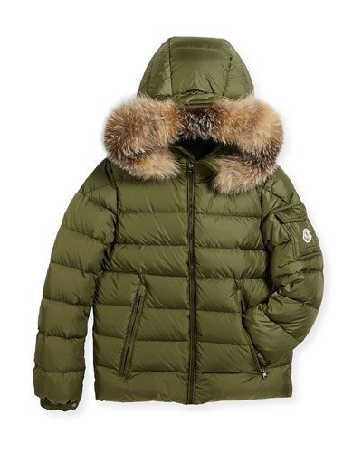 19b303376 K0PC0 Moncler Boys' Byron Hooded Puffer Coat, Size 8-14 | FW17 Boys ...